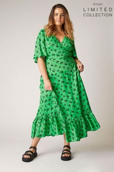 Yours Limited Wrap Floral Maxi Dress