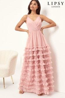 Lipsy Ruffle Prom Maxi Dress