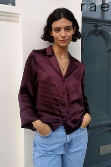 Rae Satin Button Through Shirt