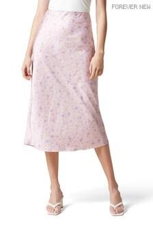 Forever New Bianca Satin Slip Midi Skirt