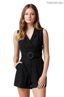 Forever New Polly Wrap Belted Playsuit