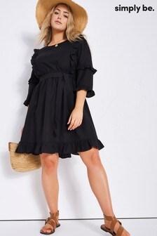Simply Be Linen Skater Dress