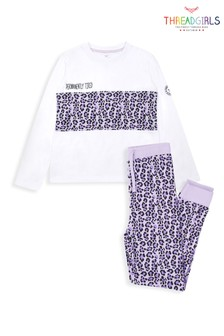 Threadgirls Animal Print Long Sleeve Cotton Pyjama Set