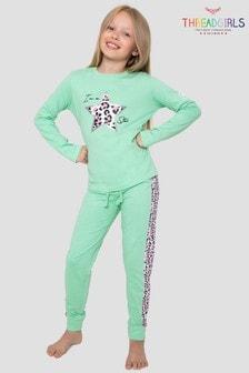 Threadgirls Star Long Sleeve Cotton Pyjama Set