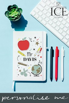 Personalised A5 Notebook and Set of 3 Pens by Ice London