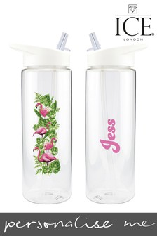 Personalised Flamingo Water Bottle by Ice London