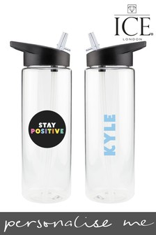 Personalised Stay Positive Water Bottle by Ice London
