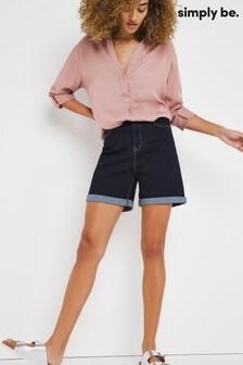 Simply Be 24/7 Indigo Denim Shorts