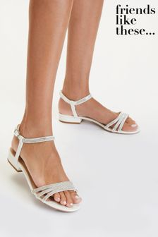 Friends Like These White Occasion Gem Sandal