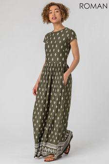 Roman Paisley Border Print Maxi Dress