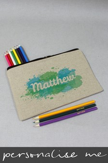 Personalised Splash Pencil Case with Pencils by Signature Gifts