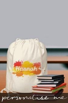 Personalised Splash Drawstring Bag by Signature Gifts