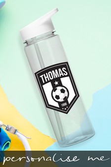 Personalised Football Badge Water Bottle by Signature Gifts