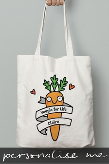 Personalised Veggie For Life Tote Bag by Signature Gifts