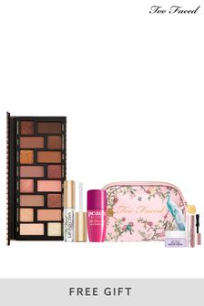 Too Faced x Next Exclusive Limited Edition Born This Way Eyeshadow Palette and Peach Bloom Cheek  Lip Tint Bundle (Worth £80)