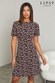 Lipsy Printed Underbust Mini Dress