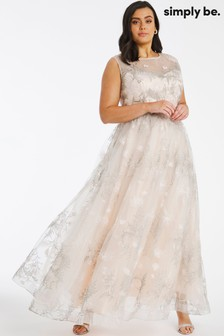 Simply Be Joanna Hope Embroidered Bridal Dress