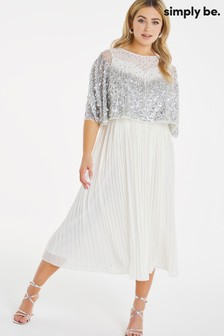 Simply Be Joanna Hope Sequin Pleated Dress