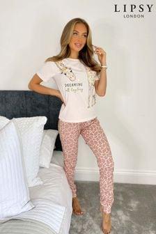Lipsy Short Sleeve Pyjama Set