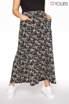Yours Maxi Pocket All Over Print Skirt