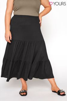 Yours Jersey Tiered Skirt
