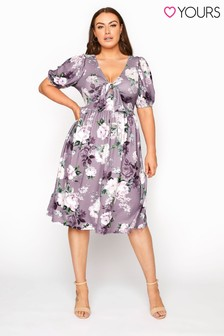 Yours Floral Bow Front Dress