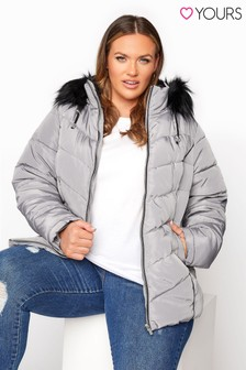 Yours Pu Panelled Puffer