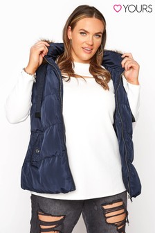 Yours Panelled Puffer Gilet