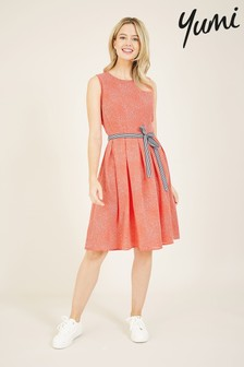 Yumi Spotted 'Meadow' Skater Dress