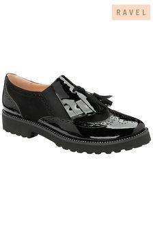 Ravel Black Patent Slip-On Shoes