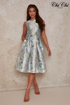 Chi Chi London Floral Print Midi Dress