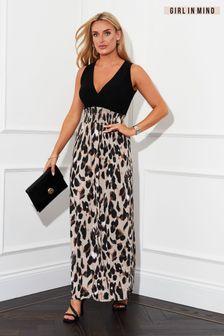 Girl In Mind 2 In 1 Print Maxi Dress