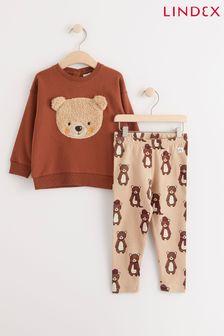 Lindex Printed Leggings and Sweater Set