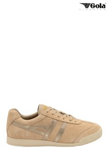 Gola Harrier MirrorLadies' Suede Lace-Up Trainers