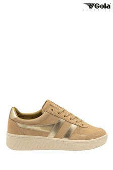 Gola Grandslam Pearl Ladies' Suede Lace-Up Trainers