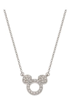 Peers Hardy Mickey Mouse Sterling silver CZ Necklace