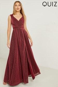 Quiz Bardot Wrap Maxi Dress