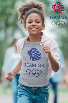 Team GB Olympic Blue Logo Kid's T-Shirt