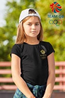 Team GB Olympic Small Gold Logo Kid's T-Shirt