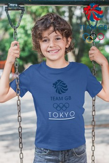Team GB Olympic Blue Logo Text Kid's T-Shirt