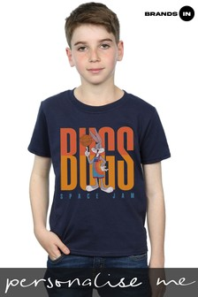 Space Jam: A New Legacy Bugs Basketball Spin Boys Navy T-Shirt