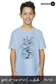 Looney Tunes World Champs Boys Light Blue T-Shirt