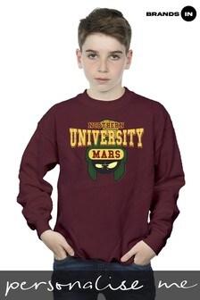 Looney Tunes Northern University Of Mars Boys Maroon Sweatshirt