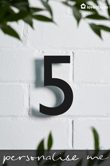 Personalised Acrylic Cut House Number by Loveabode