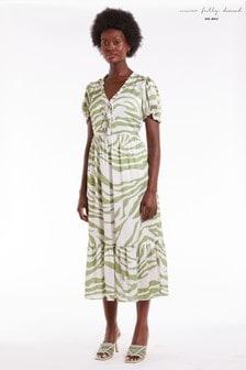 Never Fully Dressed Zebra Midi Dress