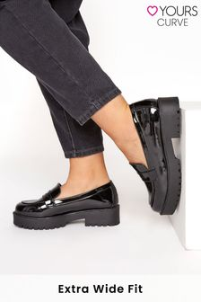 Yours Extra-Wide Fit Chunky Patent Loafer