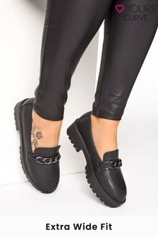 Yours Extra-Wide Fit Chunky Metal Trim Loafer