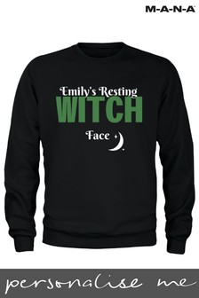 Personalised Halloween Resting Witch Face Adult Sweatshirt by MANA