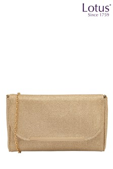 Lotus Footwear Shimmering Textile Clutch Bag