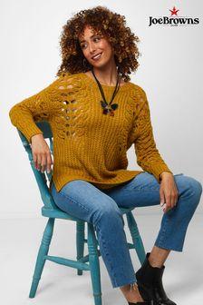Joe Browns Remarkable Open Knit Sleeve Sweater